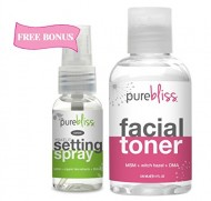 Witch Hazel Facial Toner by Pure Bliss – Infused with Skin Revitalizing and Pore Minimizing Natural Ingredients – MSM, DMAE, Organic Aloe, White Willow Bark and Tea Tree Oil – Free Trial Size Make Up Setting Spray with Hyaluronic Acid & Green Tea with Purchase
