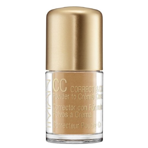 IMAN CC Correct & Cover Powder to Creme Concealer, Clay Medium 0.42 oz (4 g)