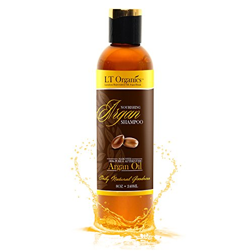 BEST Argan Oil Shampoo – Promotes Hair Growth – Backed By 120-Day Warranty & 100% Satisfaction Guarantee! Natural, Sulfate-Free, Professional Quality Stops Frizz, Leaves Hair Soft & Silky 8oz