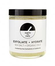 Earth tu Face – Organic Dead Sea Salt Body Scrub (8 oz / 236 ml)