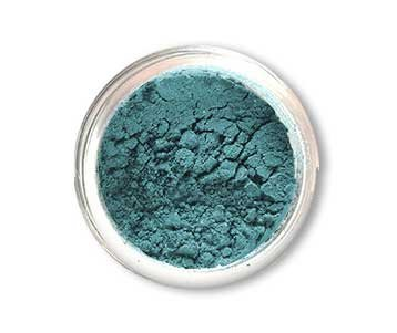 SpaGlo® Peacock Teal Mineral Eyeshadow- Warm Based Color