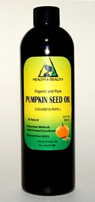 Pumpkin Seed Oil Unrefined Organic Carrier Cold Pressed Pure 12 oz