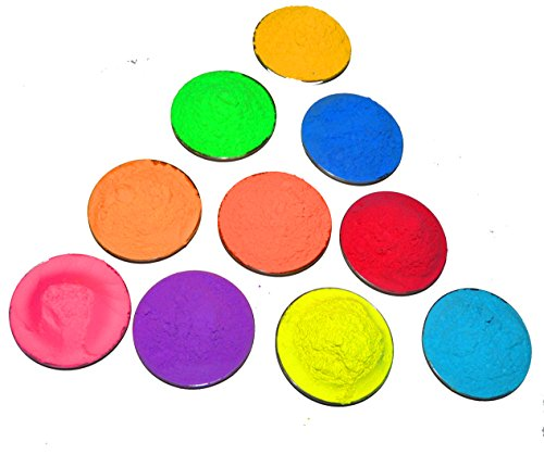 Holi Colors (Non Toxic Holi Colors) 10 Assorted Colors of 50 Grams Each
