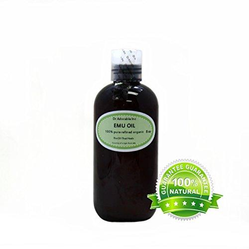 Australian Emu Oil by Dr. Adorable Triple Refined Organic 100% Pure 8 Oz