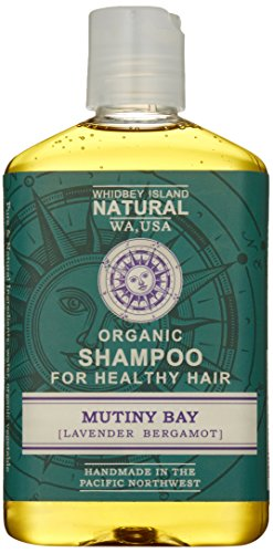 Whidbey Island Natural Organic Shampoo – Mutiny Bay (Lavender Bergamot) 8 fl oz. Made with enriching tropical and nut oils. Safe for dyed hair. Natural foam – No Sodium Lauryl Sulfate (SLS). No alcohol. Handmade in the Pacific Northwest, USA