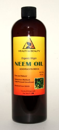 Neem Oil Virgin Organic Carrier Unrefined Cold Pressed 16 oz