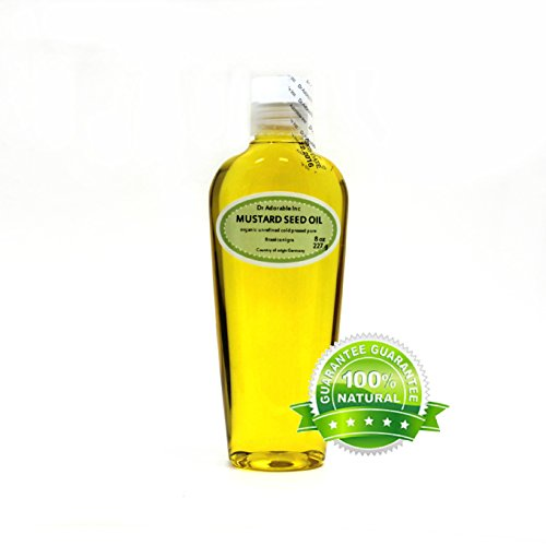 8 Oz Premium Mustard Seed Oil Unrefined Undiluted Organic