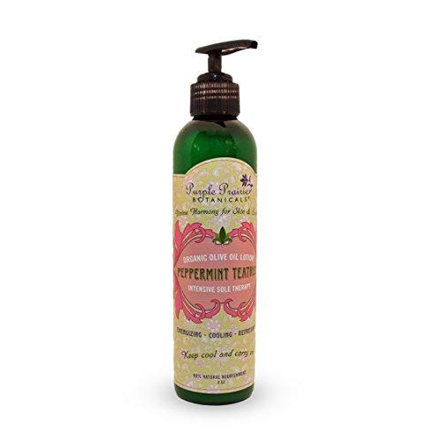 Purple Prairie Botanicals – Peppermint Tea Tree Organic Olive Oil Lotion – 8oz
