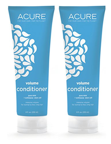 Acure Organics Pure Mint and Echinacea Stem Cell Volume Natural Conditioner (Pack of 2)