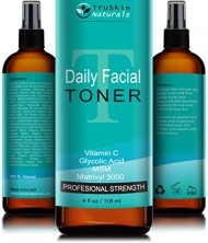 DAILY Facial Toner for All Skin Types – Contains Glycolic Acid, Vitamin C, Witch Hazel and Organic Anti Aging Ingredients for Sensitive Skin, Combination, Acne, and Even Oily Skin