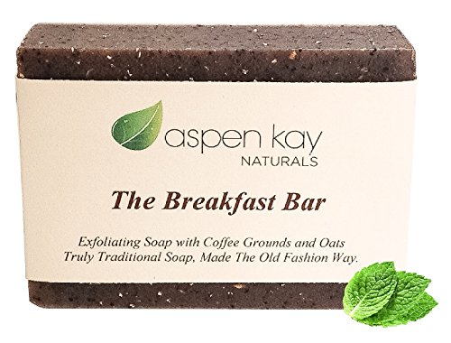 Coffee & Oatmeal Exfoliating Soap, 100% Natural and Organic Soap. Loaded With Organic Skin Loving Oil. A Wonderful Exfoliating Body Soap, For Men & Women. GMO Free – Preservative Free. 4 oz Bar.