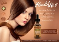 Health Nut 100% Organic Moroccan Argan Oil for Skin and Hair – All Natural Beauty Product for Daily Use – Bottle with Dropper 4 fl oz