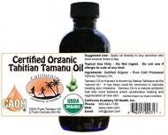 Tamanu Oil – 100% Pure Certified Organic Tahitian Tamanu (Kamani Oil) from CAOH® (1 – 2 oz Bottle)