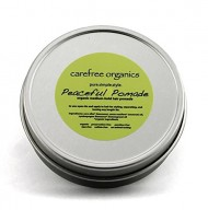 Organic Pomade – Peaceful Pomade (with beeswax and coconut oil) 1 oz – 100% Organic, Preservative Free, and Non Toxic! A Carefree Organics Product.