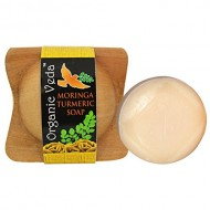 Organic Veda Moringa Turmeric Herbal Soap. ★ Plant Based Vitamains and Minerals. ★ Mild and Gentle Daily Care.