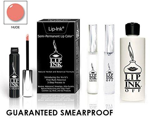LIP INK Organic Vegan 100% Smearproof Lip Stain Kit – Nude