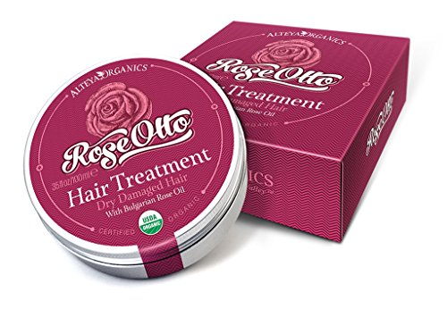 Organic Hair Treatment w/ Bulgarian Rose Oil, Aromatherapeutic