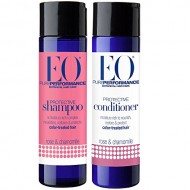 EO All Natural Organic Herbal Rose & Chamomile Protective Shampoo and Conditioner Bundle With Aloe Vera, Hibiscus, Chamomile, Calendula & White Tea For Color Treated Hair, 8.4 fl oz each