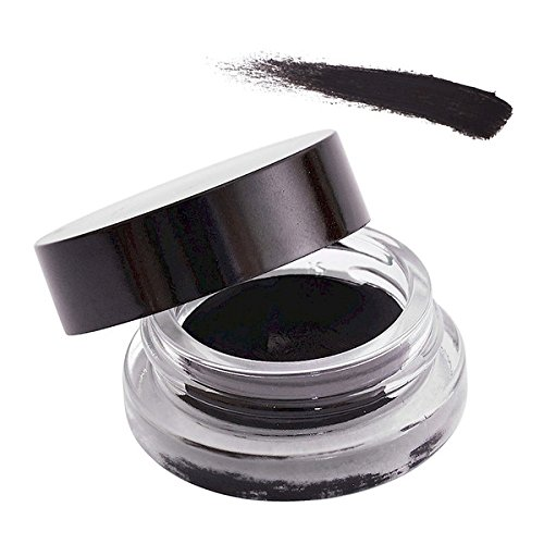 Organic Cream Gel Eye Liner, Jet Black Natural | Vegan, Cruelty Free & Gluten-Free (Black)