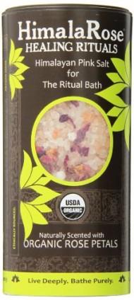 HimalaRose Himalayan Pink Bath Salt, Organic Rose Petal, 28 Ounce