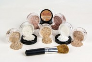 $40 SPECIAL Mineral Makeup Foundation Brush Full Size Set Sheer Bare Skin Cover Kit (Fair 2 & Pink Bisque)