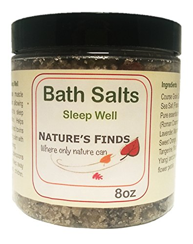 Bath Salts Sleep Well Organic 8oz Nature's Finds