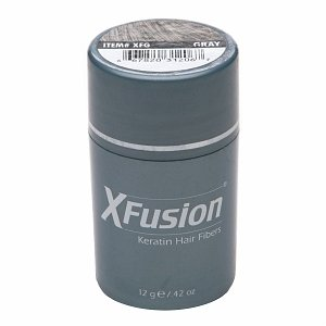 XFusion Keratin Hair Fibers, Gray 0.42 oz (12 g)