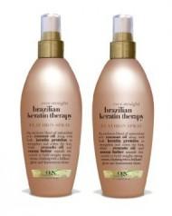 Organix Ever Straight Brazilian Keratin Therapy Flat Iron Spray – 6 Ounce (Pack of 2)