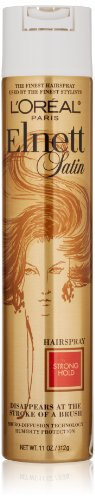 L'Oreal Paris Elnett Satin Hairspray Strong Hold, 11.0 Ounce
