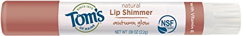 Tom's of Maine Natural Lip Shimmer, Autumn Glow, 0.08 Ounce, 3 Count