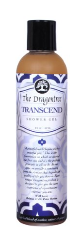 Natural Aromatherapy Body Wash – (Transcend) – A Spirited Blend of Amber, Vetiver & Ginger – Contains Essential Oils to Keep Your Skin Moisturized and Healthy – A Shower Gel By The Dragontree