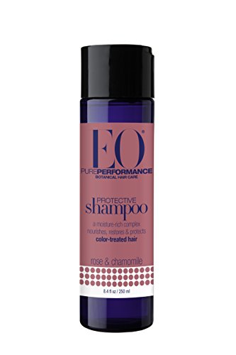 EO Botanical Protective Shampoo for Color Treated Hair, Rose & Chamomile, 8.4 oz (Pack of 3)