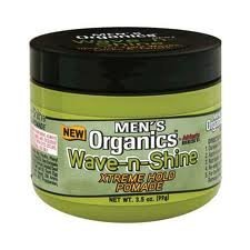 Organics Mens Wave and Shine Extreme Hold Pomade, 3.5 Ounce