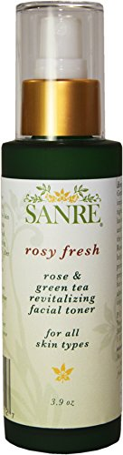 SanRe Organic Skinfood – Rosy Fresh – Organic Rose and Green Tea Revitalizing Facial Toner For All Skin Types