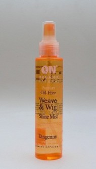 On Organic Natural Premium Oil-Free Weave & Wig Shine Mist, Tangerine 4.5 oz