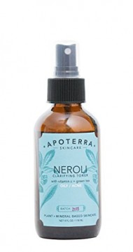 Apoterra – Organic Neroli Clarifying Toner with Vitamin C + Green Tea (4 oz)