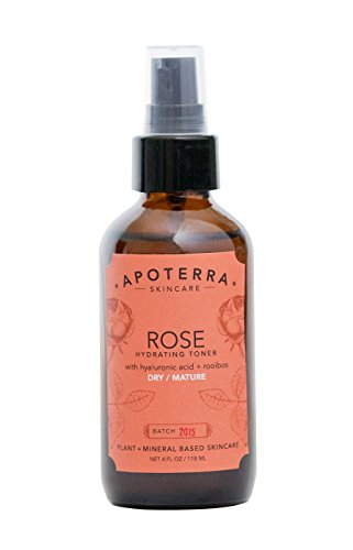 Apoterra – Organic Rose Hydrating Toner with Hyaluronic Acid + Rooibos (4 oz)
