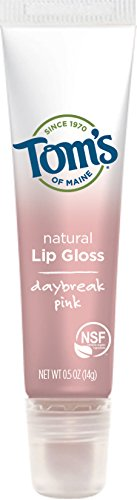 Tom's of Maine Natural Lip Gloss, Daybreak Pink, 2 Count