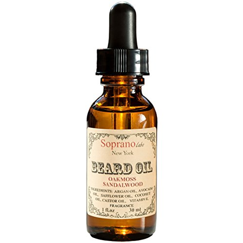 Oakmoss Sandalwood Beard Oil. Luxury Beard Conditioner. All Natural Handmade Beard Moisturizer made with Organic Avocado, Argan, Safflower, Castor, Vit E Oil