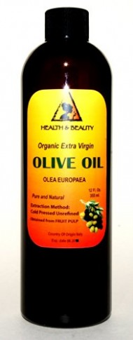 Olive Oil Extra Virgin Organic Carrier Cold Pressed Pure 12 oz