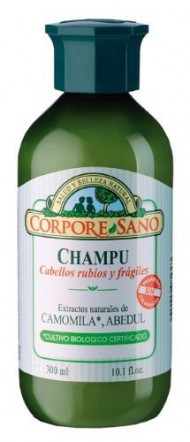 Corpore Sano Chamomile, Birch & Wheat BLONDE AND DELICATE HAIR SHAMPOO-HYPOALLERGENIC-Certified Organic Growing- 300 ml /10.1 fl.oz.