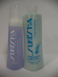 Sukesha Moisturizing Hair Wash 12 fl. oz. & Foaming Mousse 8 fl. oz Duo Set