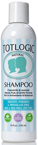 TotLogic Natural Shampoo, 8 oz, No Sulfates, No Phthalates