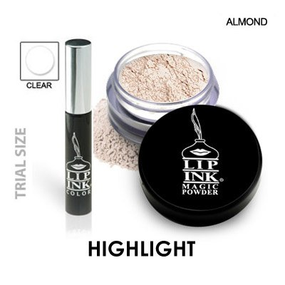 LIP INK Organic Vegan 100% Smearproof Magic Powder Travel Kit (Almond)