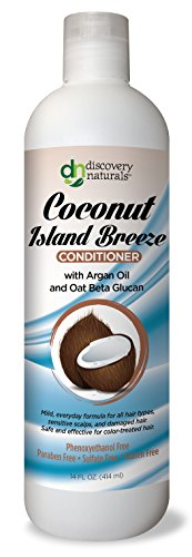 Discovery Naturals Coconut Island Breeze Conditioner – Chemical & Sulfate Free  with Organic Ingredients 14 FL OZ (414 ml)
