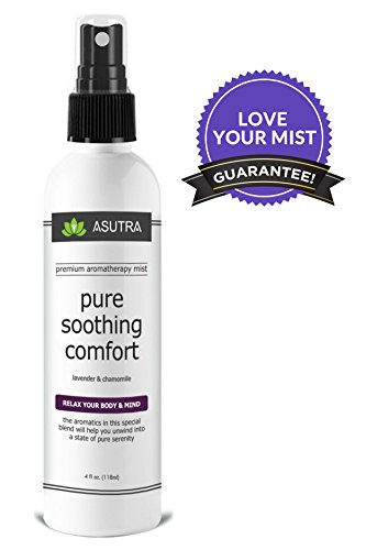 "Premium Aromatherapy Mist – ""PURE SOOTHING COMFORT"" – Relax Your Body & Mind – 100% ALL NATURAL & ORGANIC Room & Body Mist, Essential Oil Blend – Lavender & Chamomile – 100% GUARANTEED"