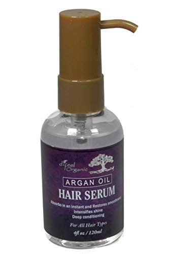 Difeel Organic Moroccan Argan Hair Serum 4 oz. (Pack of 2)