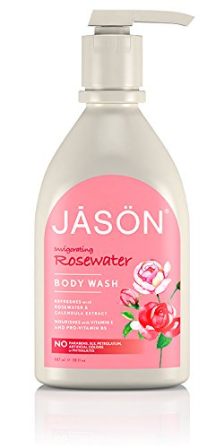 Jason Body Care Invigorating Rosewater Body Wash, 30 oz