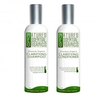 Organic Shampoo Conditioner Set. Clarifying Shampoo & Cleansing Conditioners for Hair. Control Itchy Scalp and Dandruff. USA Made, Sulfate Free, Color Safe Concentrated Treatment. (4oz)