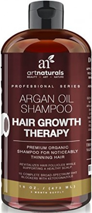 Art Naturals Organic Argan Oil Hair Loss Shampoo for Hair Regrowth 16 Oz – Sulfate Free – Best Treatment for Hair Loss, Thinning & Aging – Product For Men & Women – Infused with Biotin -3 Month Supply